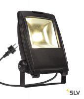 FLOOD LIGHT 25 светильник IP65 32Вт с LED 3000К, 2200лм, 90°, кабель 2м с вилкой, черный (ex 231162)