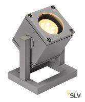 CUBIX светильник напольный IP44 для лампы GU10 25Вт макс., серебристый