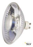 LED QPAR111 GU10 источник света 230В, 6.5Вт, 2700K, 390лм, 38°, зеркальный корпус